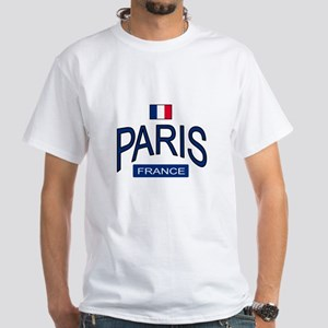 Paris France White T-Shirt
