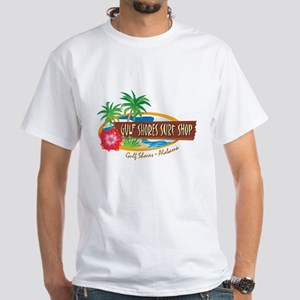 Gulf Shores Surf Shop - White T-Shirt
