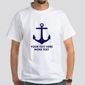 Nautical Boat Anchor T-Shirt For Captain Sailor