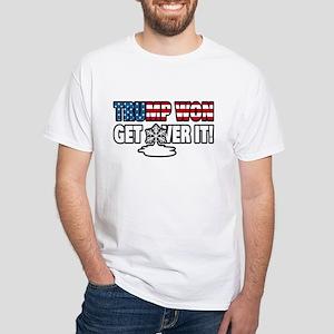 42cb07654 Trump Won Get Over It! Snowflake T-Shirt