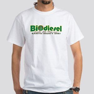 Earth Day BioDiesel White T-shirt