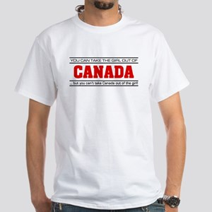 'Girl From Canada' White T-Shirt