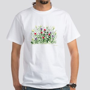 Field of Flowers White T-Shirt