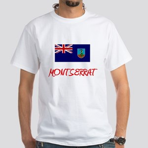 Montserrat Flag Artistic Red Design T-Shirt