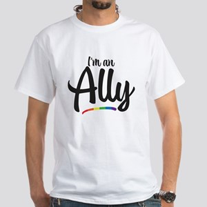 I'm An Ally - Gay Pride White T-Shirt