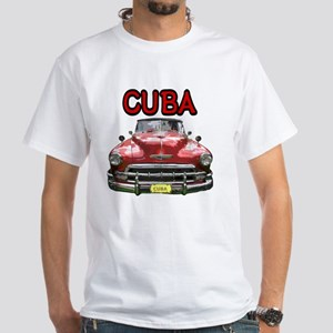 Old Car Cuba White T-Shirt