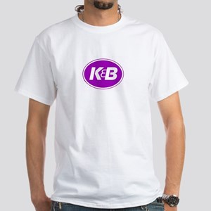 K&B Retro White T-Shirt
