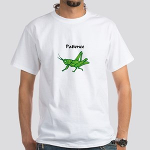 Patience Grasshopper White T-Shirt
