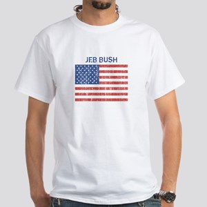 JEB BUSH (Vintage flag) White T-Shirt