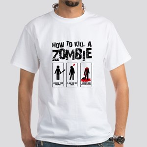Kill Zombies White T-Shirt