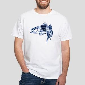 35cfcf57a184 Graphic Striped Bass White T-Shirt