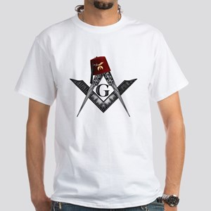 Shrine fez roots White T-Shirt