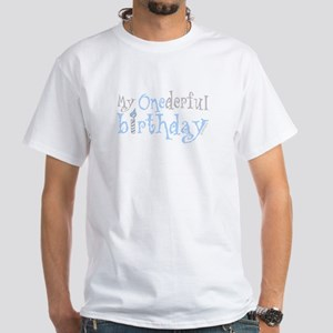 My Onederful Birthday Boy White T Shirt