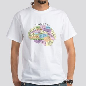 Quilter's Brain White T-Shirt