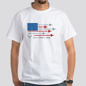 USAF Fly Fight Win White T-Shirt