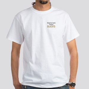 Head & Neck Cancer Sucks White T-Shirt