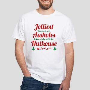 NLCV: Jolliest Assholes White T-Shirt