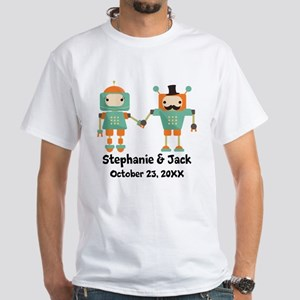 Personalized Couples Anniversary Robots T-Shirt