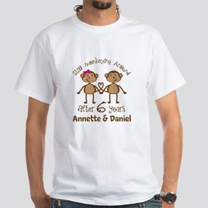 6th Anniversary Personalized Gift T-Shirt