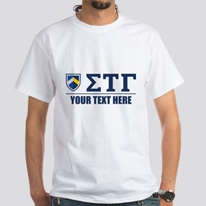 Sigma Tau Gamma Letters Personalized White T-Shirt