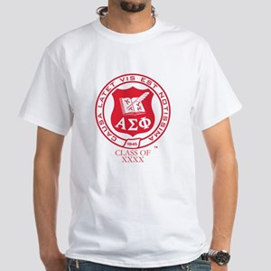 Alpha Sigma Phi Class Of Personalize White T-Shirt