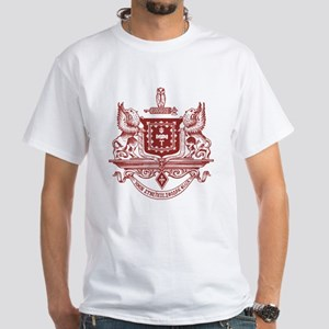 Psi Upsilon Fraternity Crest in Red White T-Shirt