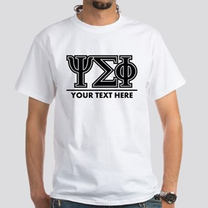 Psi Sigma Phi Letters Personalized White T-Shirt