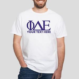 Phi Delta Epsilon Letters Personaliz White T-Shirt