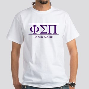 Phi Sigma Pi Letters Personalized White T-Shirt