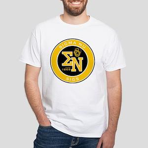 Sigma Nu Badge White T-Shirt