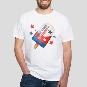 Ice Cream Pop 4th White T-Shirt