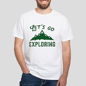 Let's Go Exploring White T-Shirt
