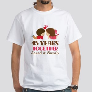 45th Anniversary Personalized Gift T-Shirt