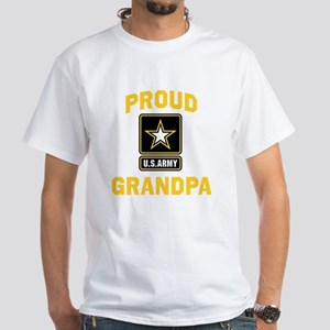 Proud US Army Grandpa White T-Shirt