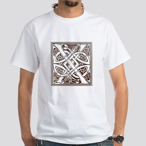 Celtic Letter X White T-Shirt