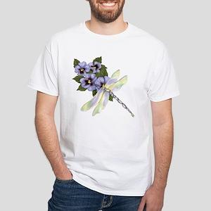 PurplePansyDragonfly-Transparent T-Shirt