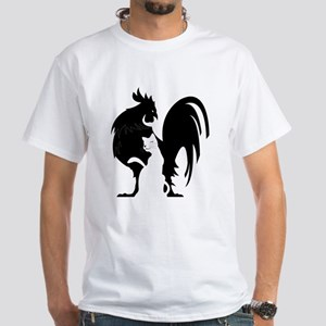 Black Cock White Pussy White T-Shirt