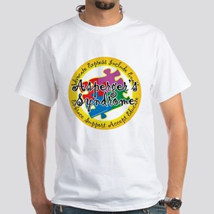 Asperger's Syndrome Puzzle Pi White T-Shirt