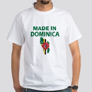 Made In Dominica White T-Shirt