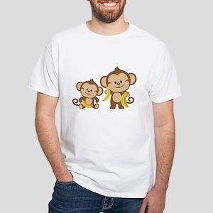 Little Monkeys White T-Shirt