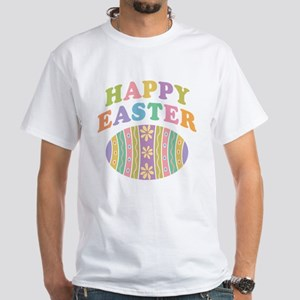 Happy Easter Egg White T-Shirt