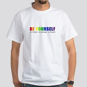 Be Yourself (Rainbow) White T-Shirt