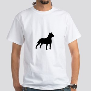american-staffordshire-terrier- silo black T-Shirt