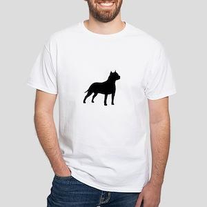 american-staffordshire-terrier- silo black T-Shirt