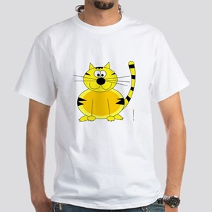 ORANGE FARM CAT White T-Shirt
