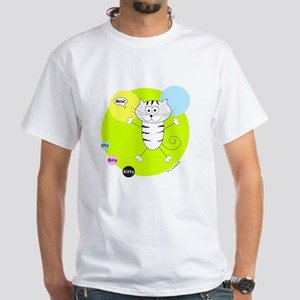 LIME GREEN PINK BLUE KITTY T-Shirt