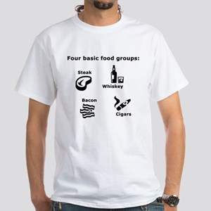 White Steak, Whiskey, Bacon And Cigars T-Shirt