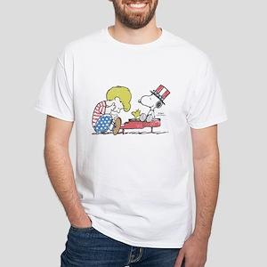 Snoopy - Vintage Schroeder White T-Shirt