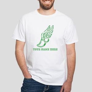 Custom Green Running Shoe With Wings T-Shirt