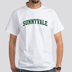 Sunnyvale (green) White T-Shirt